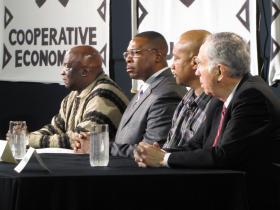 Panelists Willie Brisco, Mark Evans, Torre Johnson, E. Michael McCann