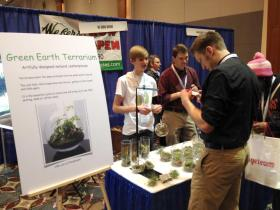 Cole Compton and Green Earth Terrarium at the Sustainability Summit.