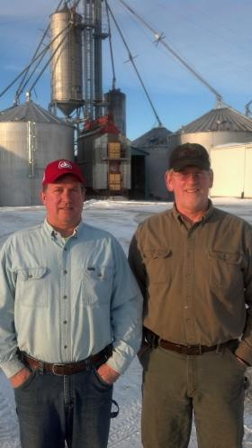 Jim  (right) and brother Dan  Zimmerman have expanded their Fond du Lac County family farm from its original 80 acres to 2700. They grow corn and soybeans.