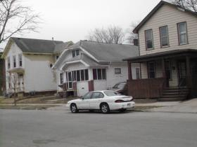 Homes next to the George Bray Neighborhood Center