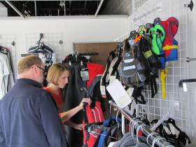 The Marbans also sell sailing gear at their new Hartland location.