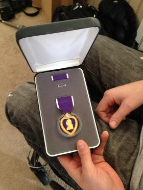 Dan Rose received a Purple Heart for combat injuries sustained in Afghanistan.