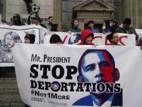 Immigration activists want President Obama to curtail the number of illegal immigrants being deported