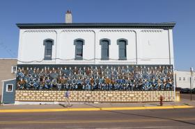 Mural in Hurley, Wisconsin