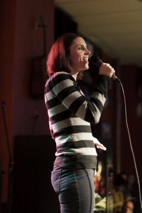 Tracy Lehrmann sharing her story at Ex Fabula's January 2012 StorySlam.