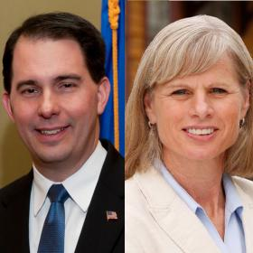 Gov. Scott Walker and his likely Democratic opponent Mary Burke