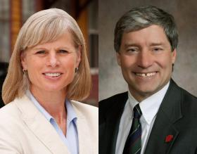 Mary Burke and Brett Hulsey face each other in a Democratic primary for governor on Tuesday.