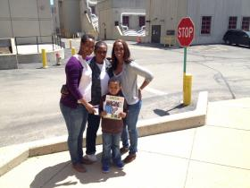 Freshwater student Bobby Baker with his mom (left), grandmother and aunt.