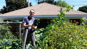 """Graves has been spending much of the summer in his garden, one of his favorite places. He says it's helped him """"detox"""" from a rough first year as an MPS teacher."""