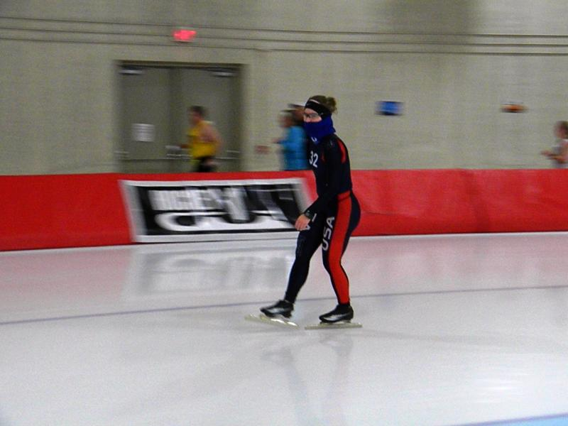 Bridie Farrell skates at the Pettit National Ice Center