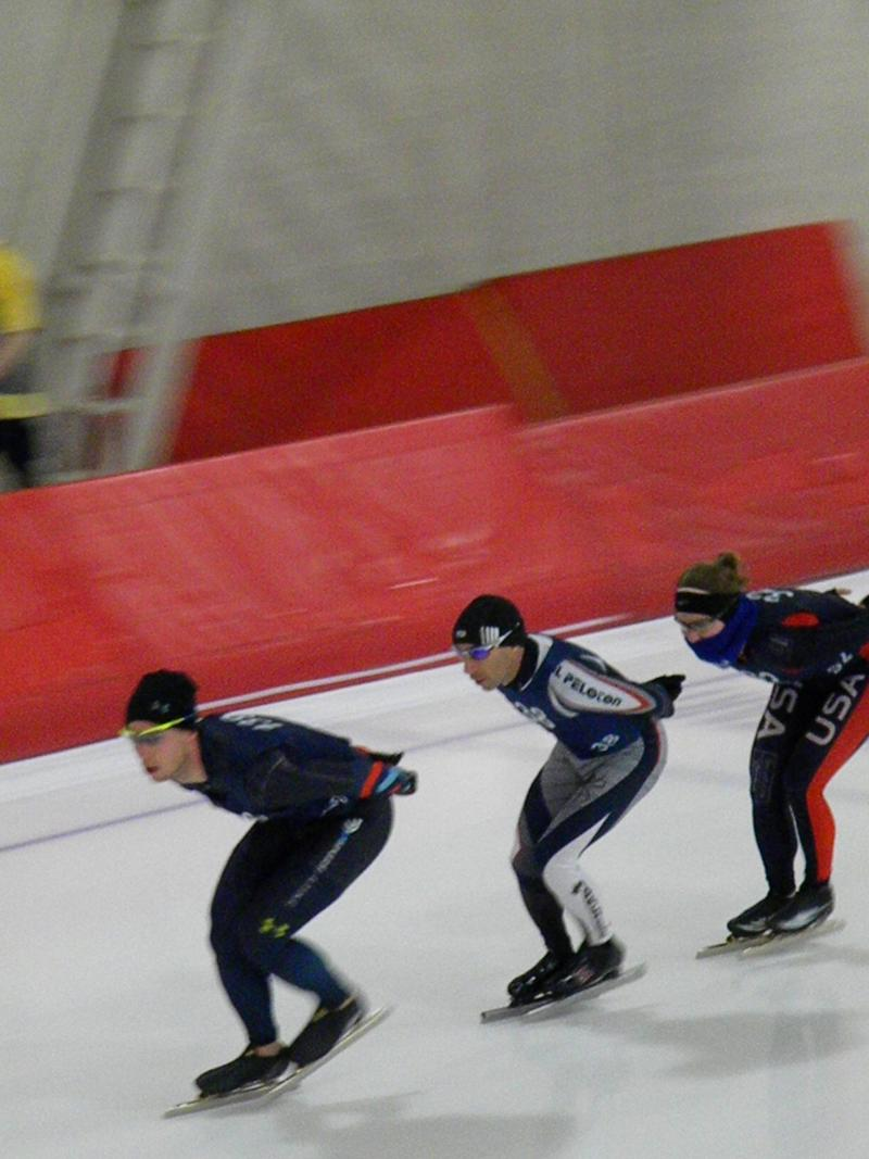 Bridie Farrell races in January at the Pettit National Ice Center
