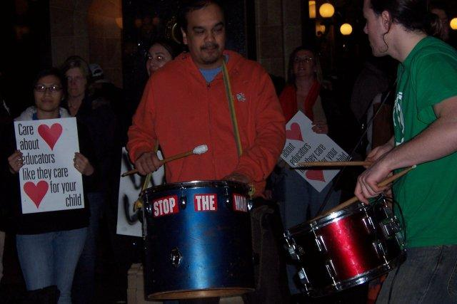 Drummers at state Capitol.