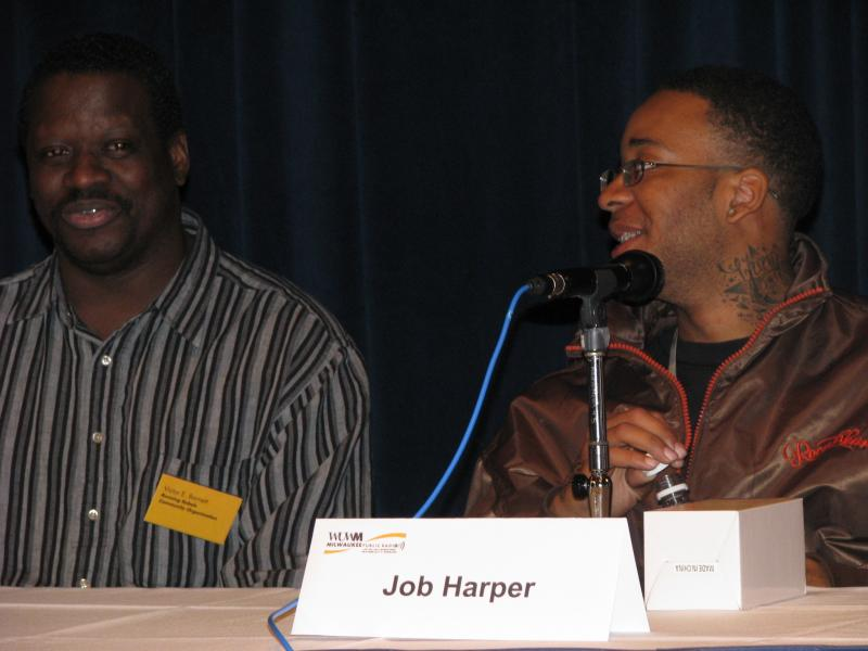 Panelists Victor Barnett and Job Harper