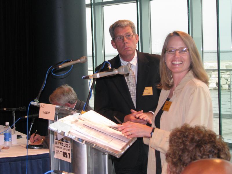 Bob Bach and Jane Hampden