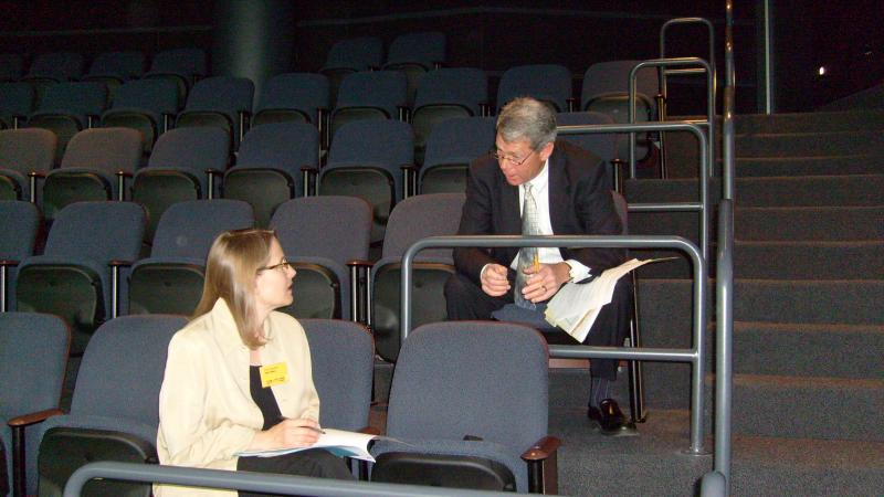 Jane Hampden and Bob Bach Prepare for the Forum