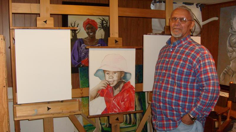 Artist Sylvester Sims and a current project