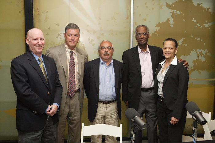 Panelists: Marc Levine, Tim Sheehy, Enrique Figueroa, Howard Fuller and Paula Penebaker.