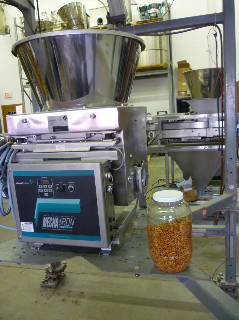 This Schenck AccuRate machine is being used by Hershey in its Chocolate World exhibit to allow visitors to make their own chocolate bars.