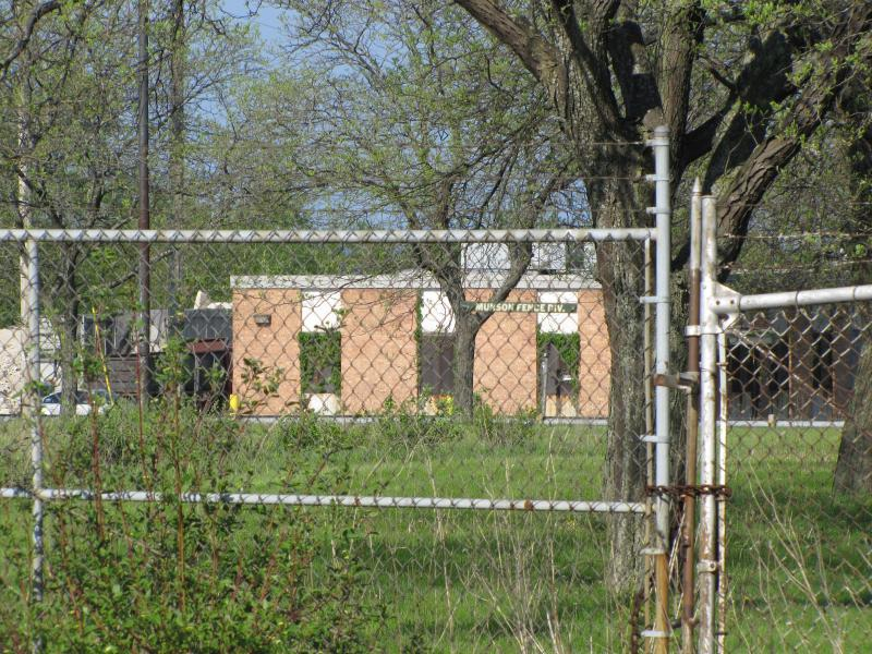 Building remains  on glue factory lot.