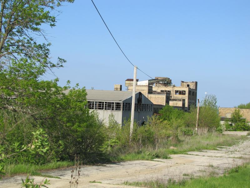 One of Oak Creek's lakefront industrial sites  industrial town adjacent to old glue factory.