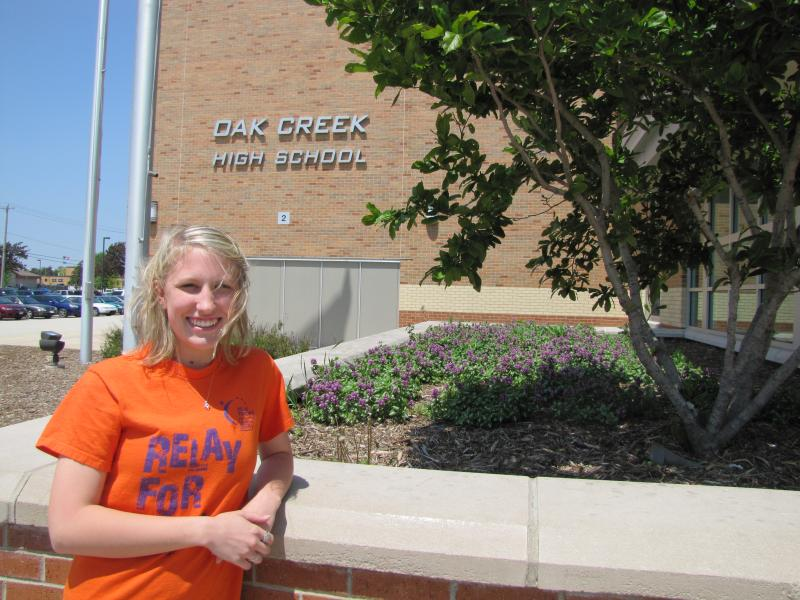 High school senior Amanda Weber serves on Oak Creek's lakefront restoration community advisory committee.