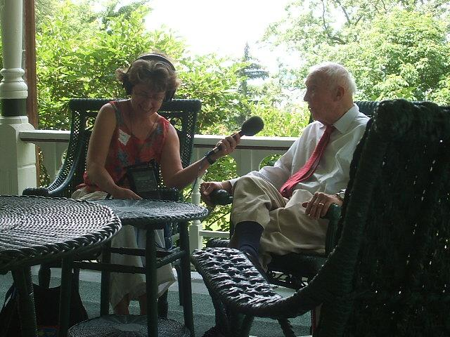 Chatting with William O. Petersen - great-grandson of original estate owner beer baron Conrad Seipps