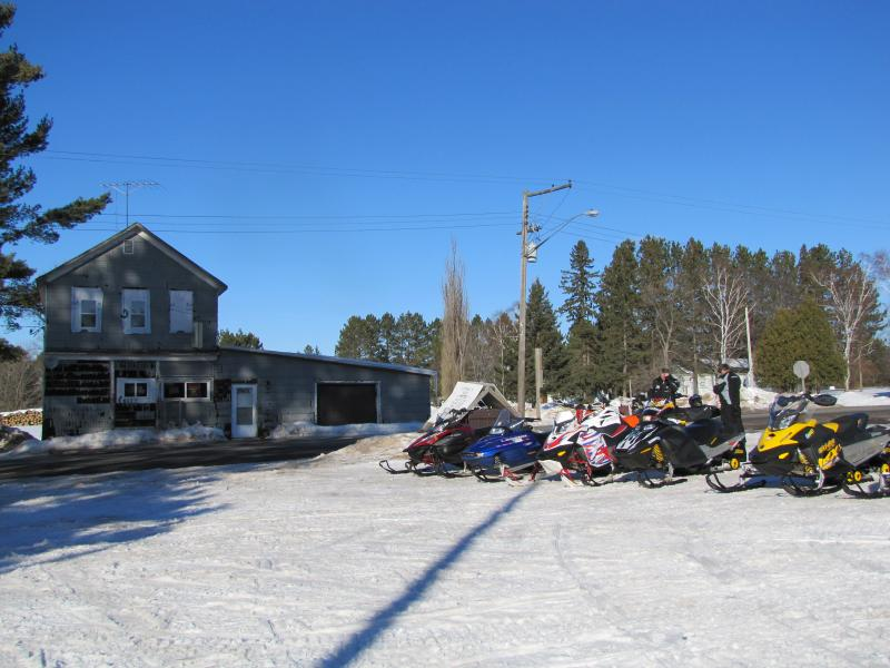 The Lipske Bar  4th generation business draws snowmobilers on a Friday afternoon
