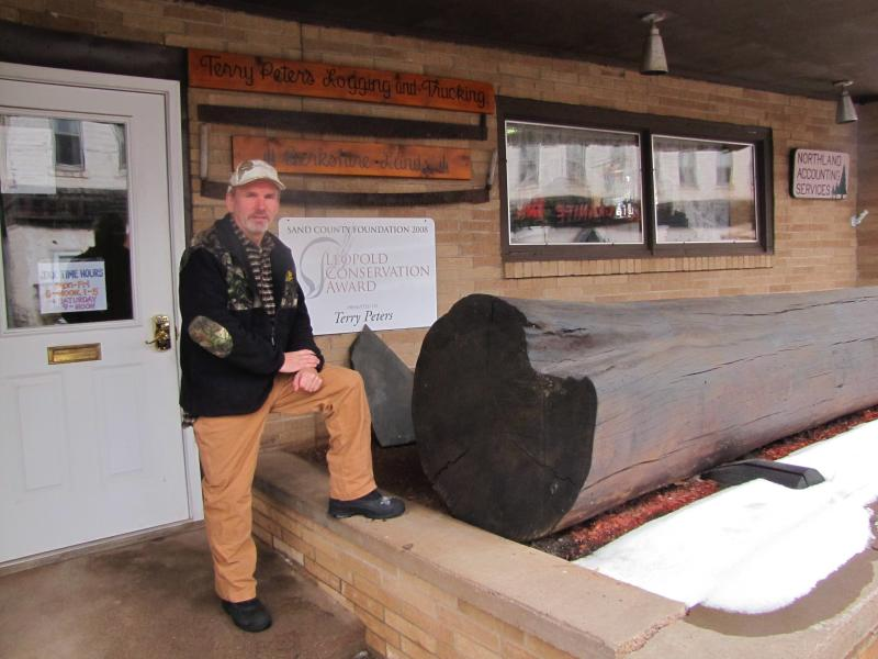 Terry Peters  owns a logging business in Mellen