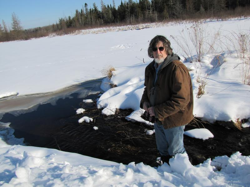 Bill Heart  on Lake Caroline - headwaters of the Bad River