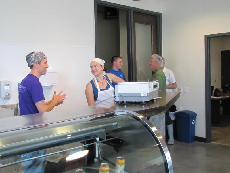 Clock Tower Creamery and Purple Door Ice Cream share retail space and equipment.