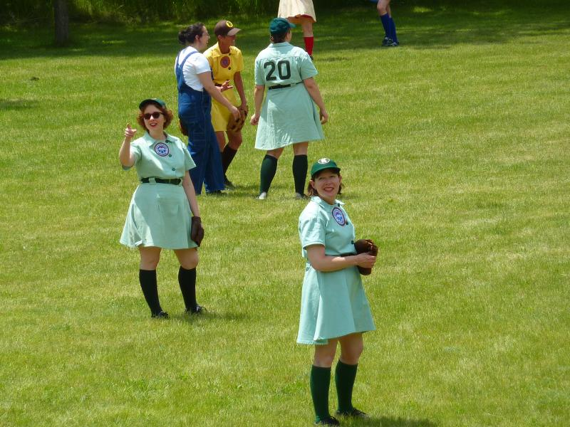 Curls to Cleats: The WWII Girls Baseball Living History League strives for accuracy - in playing style and uniforms.