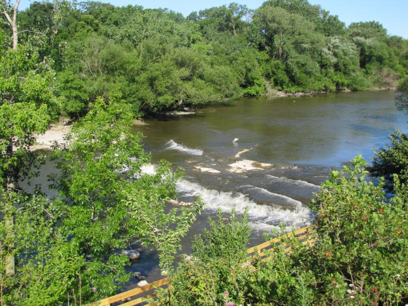 Natural flow downstream from Estabrook Dam.