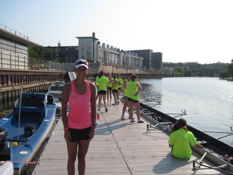 Anna Leach is a high schooler who has fallen in love with rowing, and rows daily with the Milwaukee Rowing Club.