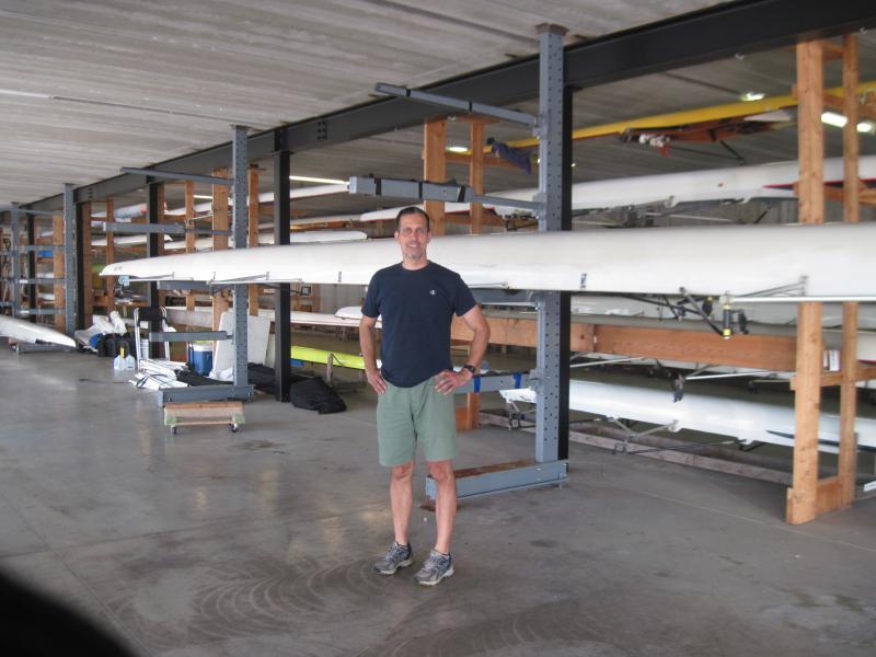 Rowing Club President Joe Cincotta stands in the club's boathouse in the Beerline neighborhood.