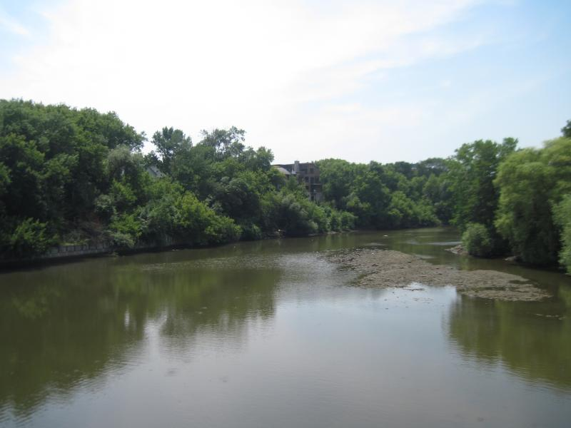 The estuary downstream from the old North Avenue Dam.