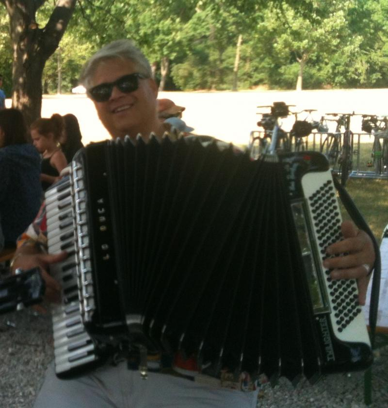 Accordion Player at Estabrook Beer Garden