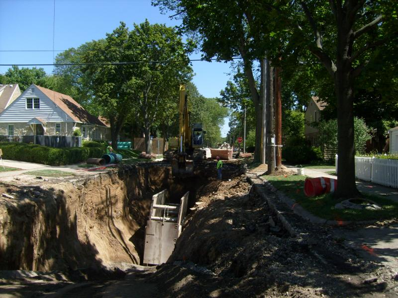 20 Foot Excavation in Wauwatosa