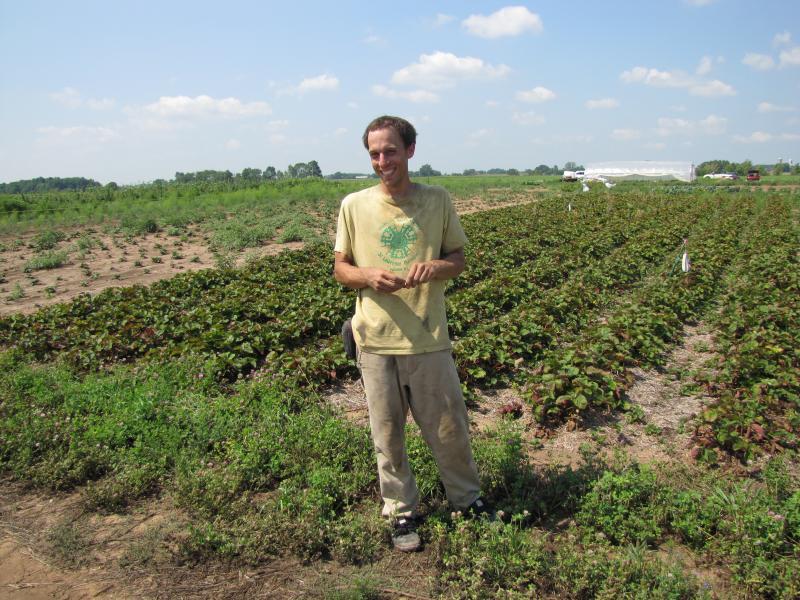 Farm manager Steven Petro