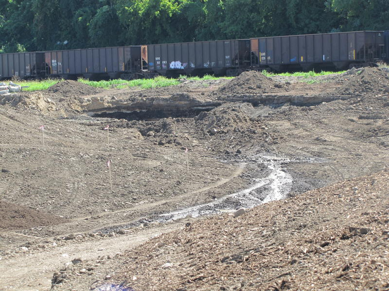 Storm water will be directed through to sink into swales and rain gardens