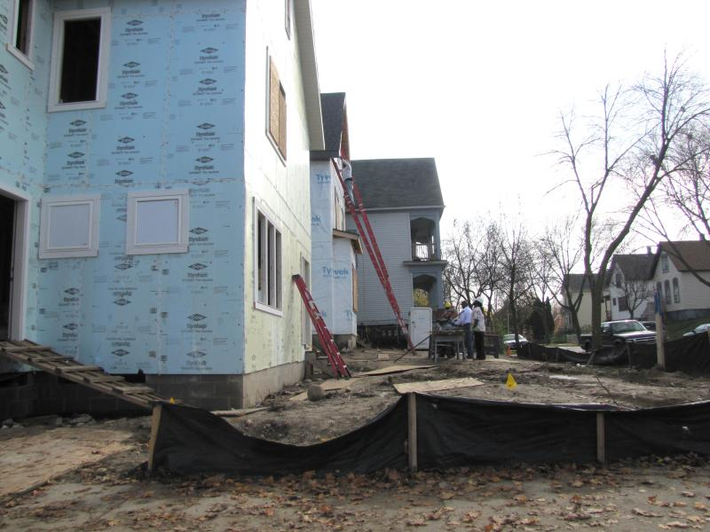 One of the sites that Milwaukee Builds builds  lead by Northcott Neighborhood House.