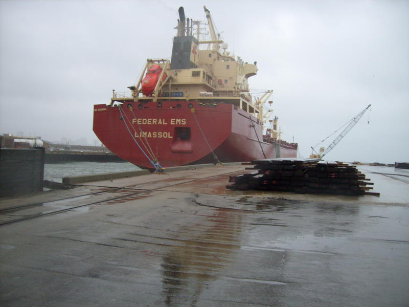 ederal EMS freighter at the Port of Milwaukee