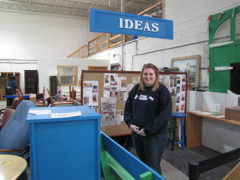 Katelyn Rauhut in her Wauwatosa ReStore environment