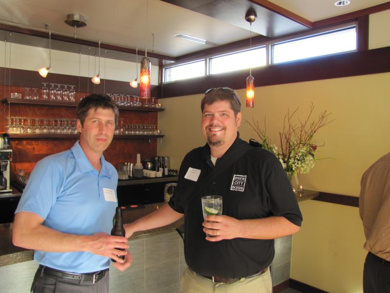 Eric Tallmadge of Small Shops United and Chris Gross of Brew City Boxes