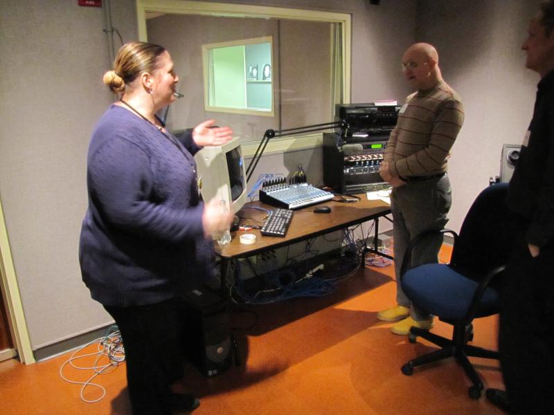 Ann-Elise Henzl gives a tour of the studios