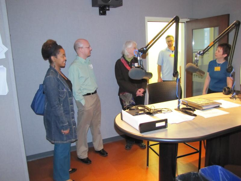 Touring the On-air Studio