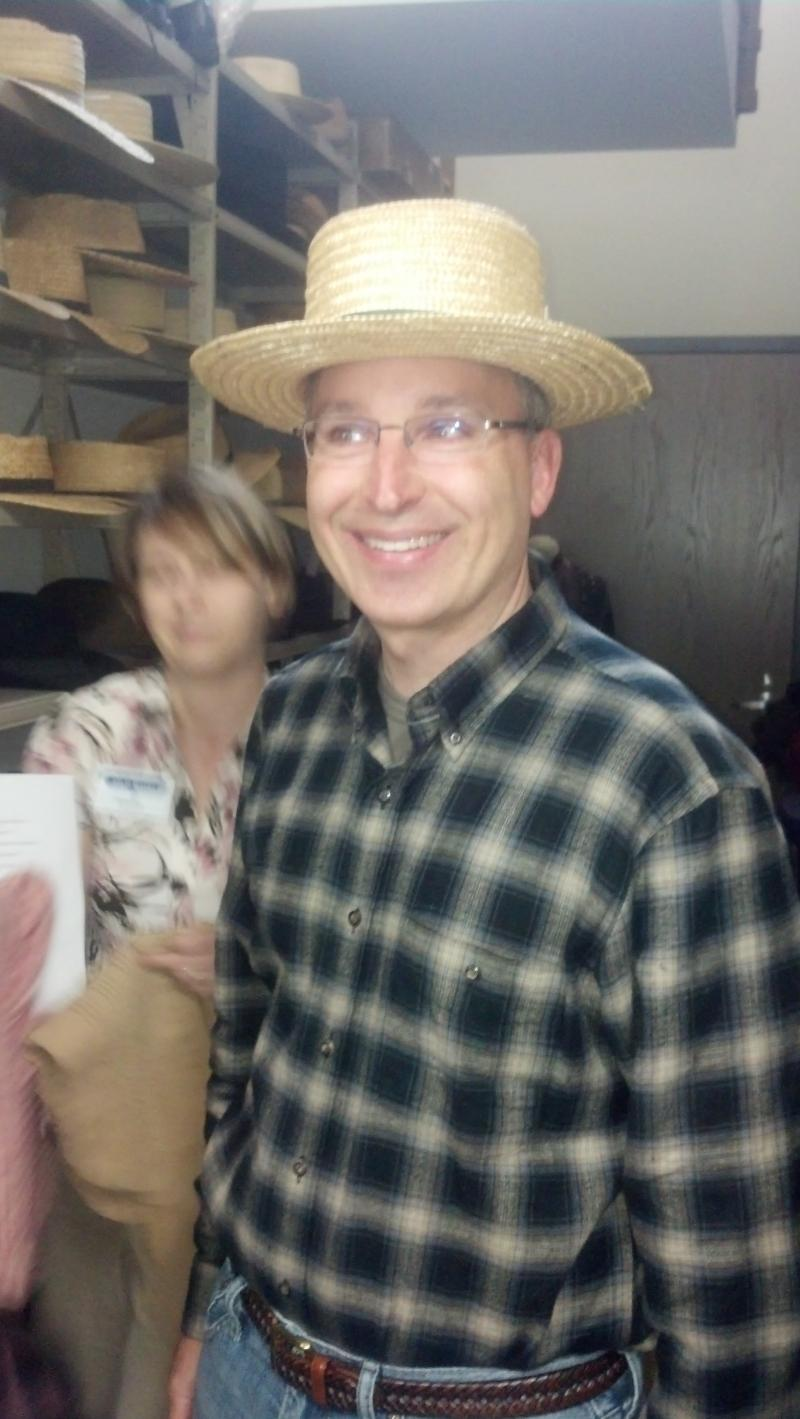 "Tom Ziolkowski has selected his hat for his ""Life on the Farm Extreme"" experience."