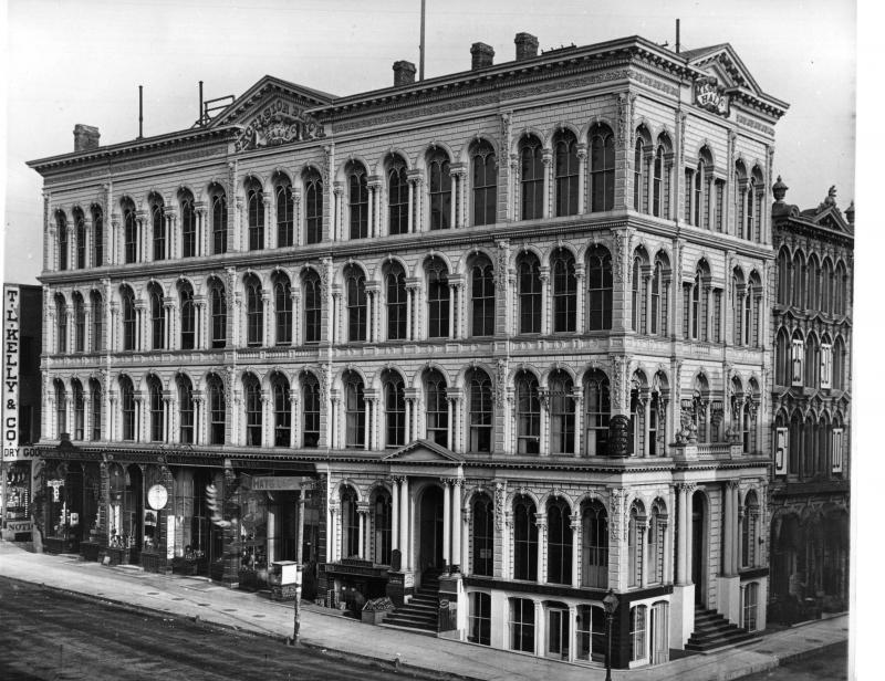 Historic Photo of The Iron Block Building