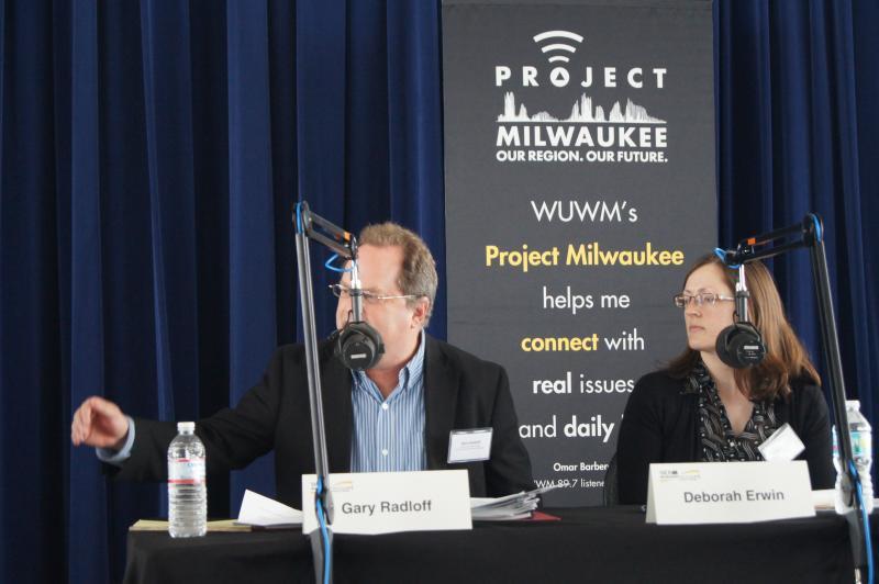 Panelist Gary Radloff speaks