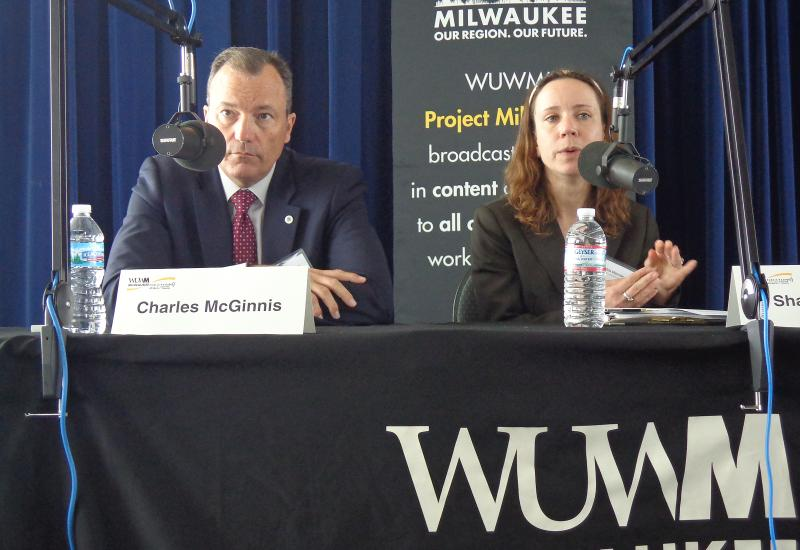 Panelists Charles McGinnis and Shahla Werner