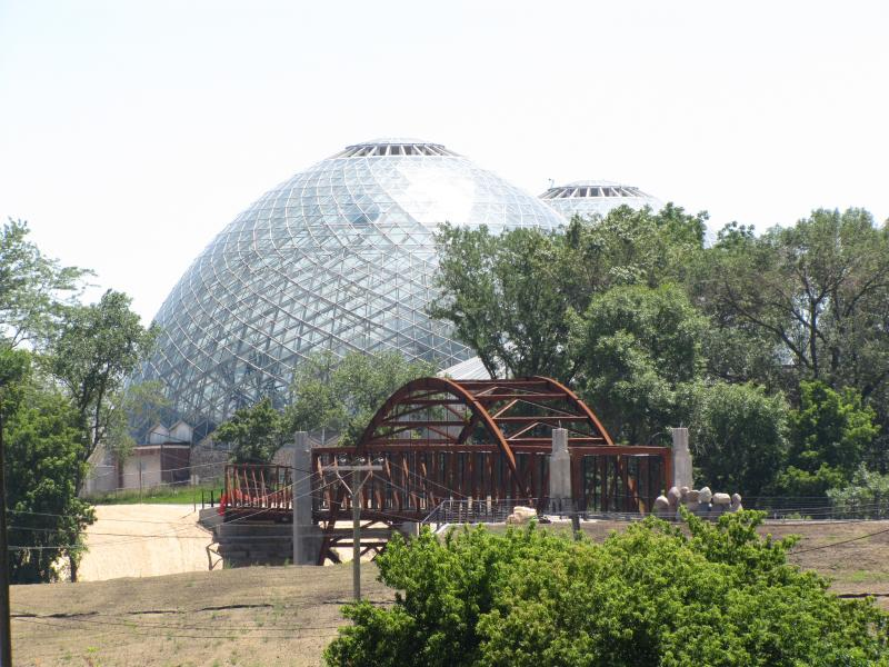 The third bridge links the east end of park to the Domes.